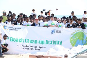 Chiyoda Almana conducts annual beach cleaning