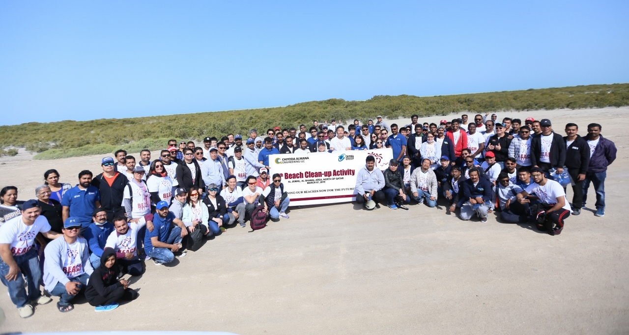 Chiyoda Almana organize Beach Cleaning Campaign to celebrate company's 11th Foundation Day